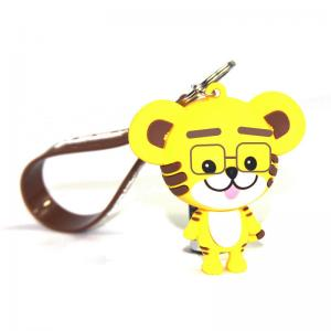 China Custom PVC Figure Keychain Movie Disney Small Figures Keyring Mini Pendant Christmas Halloween Birthday Gifts on sale