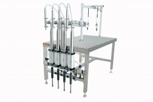 China Honey / Sauce / Ketchup Semi-Automatic Filling Machine For Bottle / Jars on sale