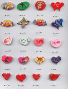 China mini heart Flashing badges,led flashing pins on sale