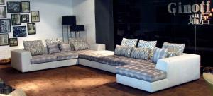 Quality Modern sectional sofas bed , big corner sofa beds ,  Luxury modern fabric sofas for sale