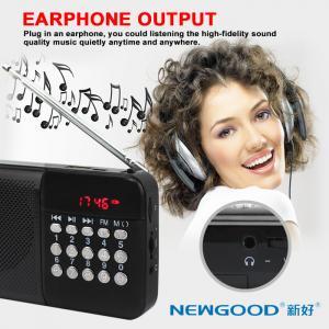 China SD card plug in NEWGOOD digital radio music player speaker on sale