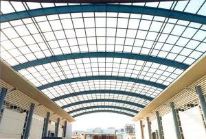 China Arch Roof Steel Frame Commercial Building Modern Steel Structures Painting Surface on sale