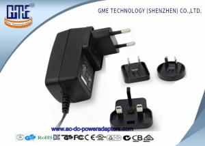 China 12V 1.5A Wall Mount Power Adapter For Acoustic Products , Universal EU US UK AU Plug on sale
