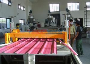 China Sound Absorption Three Layer Corrugated PVC Corrugated Roll Forming Machine For Industrial Buildings on sale