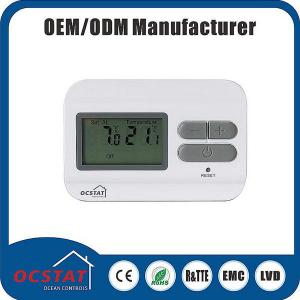 China Digital Household DC 230V ABS  Electronic LCD Display Heating Control Room Thermostat on sale
