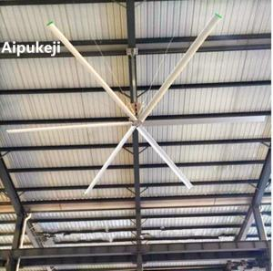 China High Volume Low Speed 10 FT Ceiling Fan, AC Motor Ceiling Fan For Factory on sale