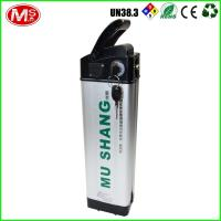 China Silver 48v 10ah Ebike Battery , LiFePO4 Rechargeable Battery For Electric Bike on sale