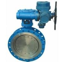 Electric Wafer Style Butterfly Valve Triple Eccentric Design Outdoor Type