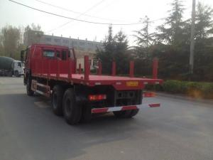 China 371hp Sinotruk Howo7 Cargo Container Truck 30T Flatbed 6x4 10wheels With 1 Spare Tire on sale