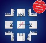 Nueva venta al por mayor creativa del reloj de pared del número del dígito de la decoración interior del hogar del reloj de pared de DIY