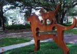 Contemporary Metal Garden Ornaments Animals / Metal Dog Sculpture Welding Craft