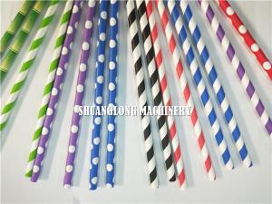 China Biodegradable drinking paper straw making machine on sale
