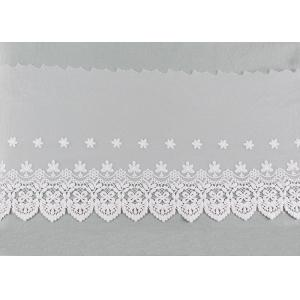 China Openwork Embroidered Nylon Lace Fabric Bilateral Symmetry Lace For Wedding Dresses on sale
