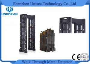 China Mobile Walk Through Safety Gate , Black Portable Metal Detector Security Check on sale