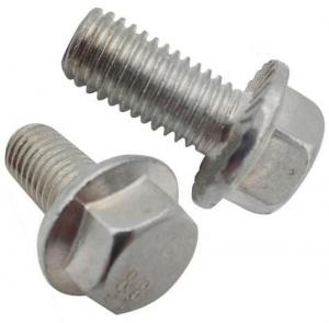 China DIN6921 Gr8.8 Hexagon Flange Head Bolts For Machine White Zinc Material on sale
