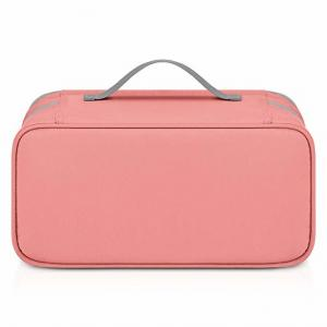 China Multi Function Travel Bra Organizer , Lingerie Storage Bags Coral Color on sale