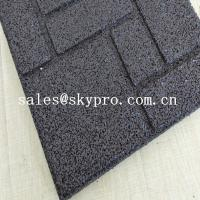 Crossfit safety insulation gym Interlocking flooring mat rubber tile for outdoor playground or indoor gym