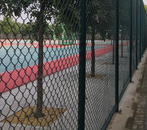 China Hot Sale 50*100mm Green Used Chain Link Fence Suitable for Playground on sale