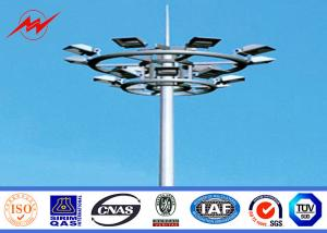 China 6-15m Galvanized Steel High Mast Light Pole , Outdoor Lighting Pole For Damman Seaport on sale