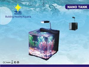 China 30L LED Lamp NANO Simple Elegant Aquarium Fish Tanks With Background Filter For Desktops on sale