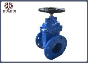 China Black Handwheel Resilient Wedge Gate Valve , Water Gate Valve Ss410 Stem on sale