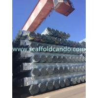China 70 microns Hot dipped galvanized pipe, HDG scaffolding steel pipe, BS 1139 EN 39 48.3mm,3.0mm, 3.2mm, 3.25mmT with 6ML on sale