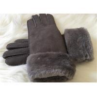 Shearling Sheepskin Gloves Hand Sewing Women Ladies Lamb Fur Winter Gloves