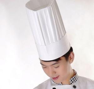 China Disposable Chef HatsPaper Forage Cap For Kitchen / Restaurant Serving With Air Holes Free on sale