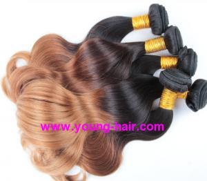 China ombre hair weaves T & mix color human hair 10-30accept design new 2014 best buy on sale