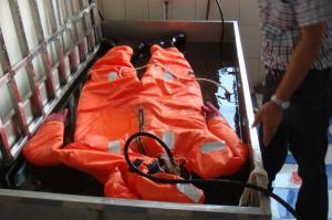 China Traje de inmersión marino de la tela reflexiva de la cinta del SOLAS on sale
