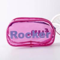 Glossy Lamination Promotional PVC Bags , Silk Screen Printing Zipper PVC Bag