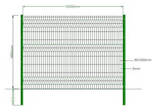 China Green Powder Coated Welded Wire Mesh , Galvanized Welded Wire Fabric Eco Friendly on sale