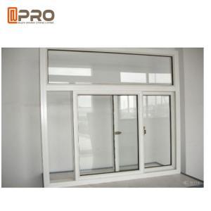 China Powder Coated Office Interior Aluminium Sliding Windows Customized Size on sale