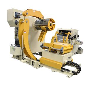 China PLC Nc Steel Coil Feeder Straightener For Press Punching , Decoiler And Straightener on sale