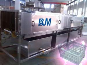 China Industry Full Automatic Turnover Crate Washer With Mitsubishi PLC on sale