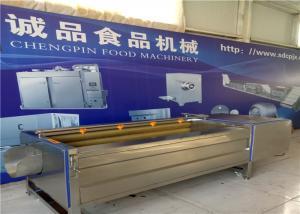 China Anti Slip Belt Potato Brushing MachineWith Stainless Steel Screw Heavy on sale