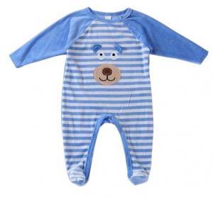 China Comfortable Organic Cotton Infant Pajamas Long Raglan Sleeve Sleepsuit on sale