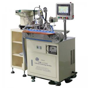 China Mini Connector Usb Data Cable Tin Soldering Machine , Automatic Soldering Machine on sale