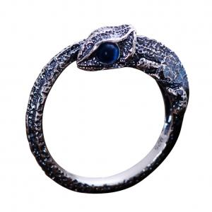 China Womens and Mens Chameleon Retro Sterling Silver Ring(XH056032WBLUE) on sale