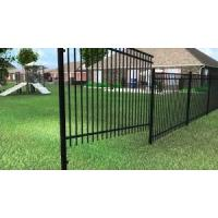 China Wholesale & low price black powder painted used aluminum picket fence on sale