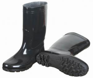 China unisex black pvc rain boots,pvc boots,pvc injection boots,farming working wellingtons,wellie shoes on sale