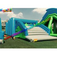 PVC Tarpaulin Inflatables Obstacle Course , Inflatable Running Obstacles