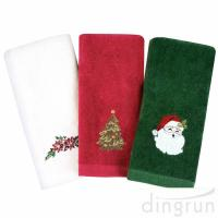 Christmas Hand Towels 100%  Cotton Bathroom Kitchen Towels for Drying Cleaning Cooking