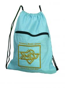 China Drawstring 420D nylon fabric back bags with emboidery logo nylon storage bags on sale