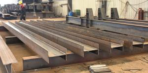 China Iron Structural Steel Beams / Welding Carbon Structural Steel H Beam Fabrication on sale