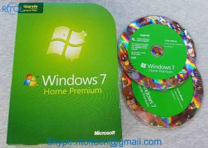 China MS WIN PC System Software Microsoft Windows 7 Home Premium Upgrade 32 / 64 Bit DVDs on sale