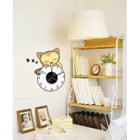Fashion Home Decorative Removable Vinyl Wall Sticker with Contemporary Metal Clock 10A105