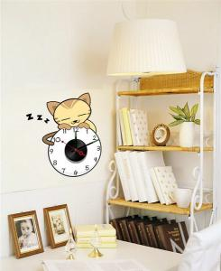 China Fashion Home Decorative Removable Vinyl Wall Sticker with Contemporary Metal Clock 10A105 on sale