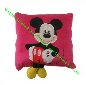 China Cute Mickey Mouse Plush Pillow , Quilted Modern Throw Pillows For Kids on sale