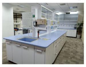 China Dental Workbench With Storage , Free Standing Laboratory Island Bench on sale
